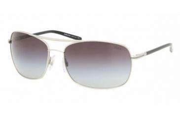 Polo PH 3050 Sunglasses Styles -  Matte Silver Frame / Gray Gradient Lenses, 90018G-6316