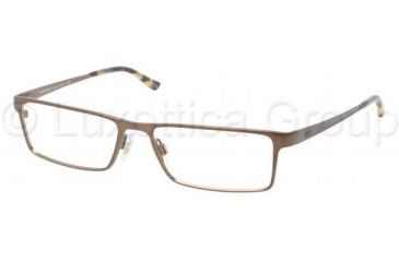 aa5604e4f073 Polo PH1105 Bifocal Prescription Eyeglasses 9155-5416 - Brown Brush Matte