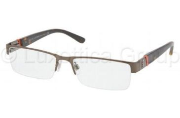 Polo PH1117 Single Vision Prescription Eyeglasses 9147-5417 - Brushed Brown Frame