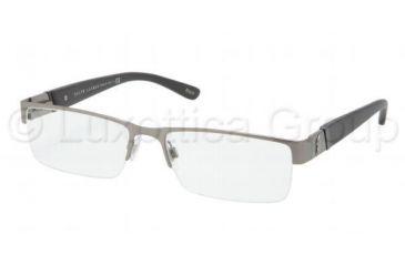 Polo PH1117 Bifocal Prescription Eyeglasses 9157-5417 - Brushed Gunmetal Frame, Demo Lens Lenses