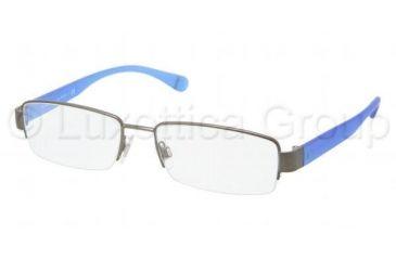 Polo PH1118 Single Vision Prescription Eyeglasses 9157-5217 - Brusched Dark Gunmetal Frame, Demo Lens Lenses