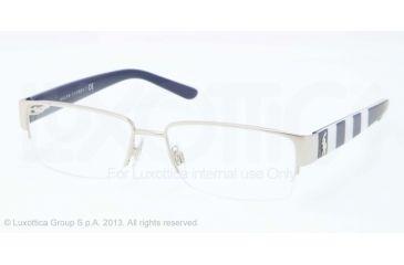 Polo PH1140 Single Vision Prescription Eyeglasses 9260-53 - Shiny Silver Frame