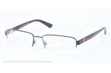 Polo PH1143 Eyeglass Frames 9264-53 - Semi Shiny Dark Blue Frame