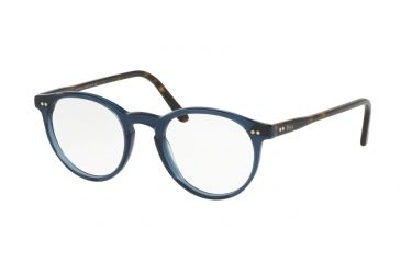 8923dfd0cb79 Polo PH2083 Prescription Eyeglasses 5276-48 - Blue   Transparent Frame