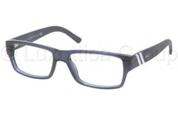 Polo PH2085 Eyeglass Frames 5276-5216 - Dark Blue Transparent Frame