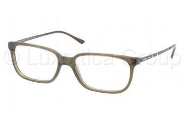 Polo PH2087 Single Vision Prescription Eyeglasses 5232-5216 - Matte Olive Frame, Demo Lens Lenses