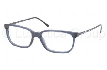 Polo PH2087 Single Vision Prescription Eyeglasses 5276-5216 - Matte Dark Blue Frame, Demo Lens Lenses