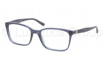 Polo PH2090 Eyeglass Frames 5276-5118 - Dark Blue Transparent Frame