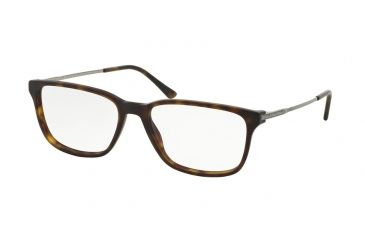 5b6ec1c4dd Polo PH2134 Single Vision Prescription Eyeglasses 5003-54 - Matte Dark  Havana Frame