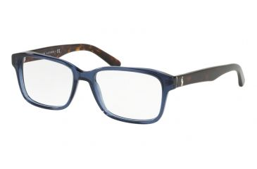 651eb6d0680b Polo PH2141 Eyeglass Frames 5692-55 - Trasparent Blue Frame