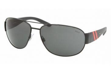 Polo Sport PH3052 #900387 - Shiny Black Frame, Gray Lenses