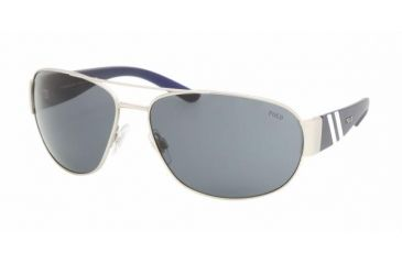 Polo Sport PH3052 #904687 - Matte Silver Frame, Gray Lenses
