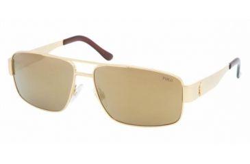Polo Sport PH3054 #90047D - Shiny Gold Brown Mirror Bronze Frame