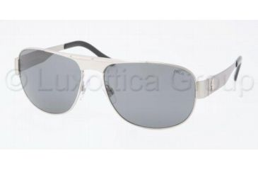 Polo PH3055 Sunglasses 900187-6116 - Brushed Silver Gray