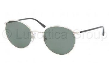 Polo PH3057M Sunglasses 900171-5120 - Shiny Silver Frame, Green Lenses