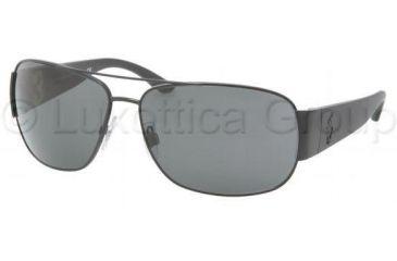 Polo PH3063 Sunglasses 903887-6514 - Matte Black Frame, Gray Lenses