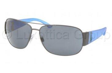 Polo PH3063 Sunglasses 915787-6514 - Dark Gunmetal Frame, Brushed Gray Lenses