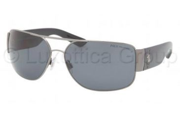 Polo PH3072 Sunglasses 900281-6614 - Shiny Gunmetal Frame, Polarized Gray Lenses