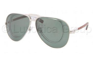Polo PH3075 Sunglasses 92199A-6211 - Shiny Silver Frame, Polarized Green Lenses