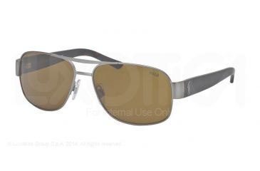 Polo PH3080 Sunglasses 905073-59 - Matte Brushed Gunmetal Frame, Brown Lenses