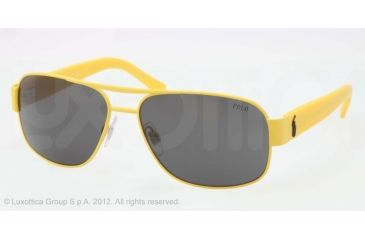 Polo PH3080 Sunglasses 924187-59 - Matte Yellow Frame, Gray Lenses