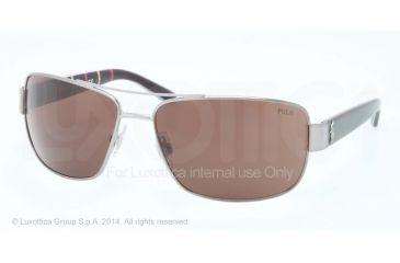 Polo PH3087 Sunglasses 915773-64 - Gunmetal Frame, Brown Lenses