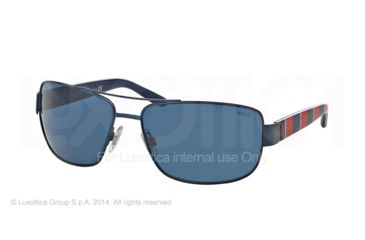 Polo PH3087 Sunglasses 926480-64 - Semi Shiny Blue Frame, Blue Lenses