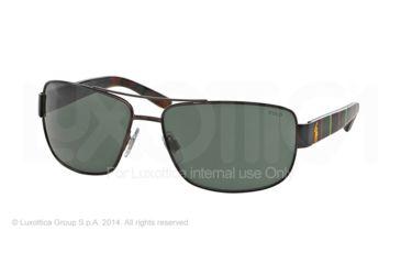Polo PH3087 Sunglasses 926571-64 - Semi Shiny Dark Brown Frame, Green Lenses