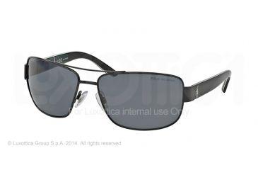 Polo PH3087 Sunglasses 926781-64 - Semi Shiny Black Frame, Polar Grey Lenses