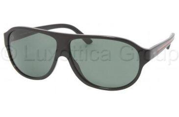 Polo PH4050 Sunglasses 500171-6211 - Shiny Black Frame, Gray Green Lenses