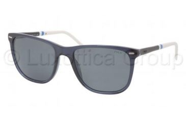 Polo PH4064 Single Vision Prescription Sunglasses PH4064-527687-5418 - Lens Diameter 54 mm, Frame Color Transparent Blue