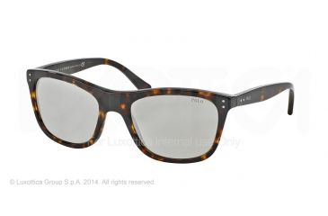 Polo PH4071 Sunglasses 50036G-55 - Dark Havana Frame, Grey Mirror Silver Lenses