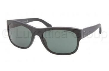 Polo PH4072 Sunglasses 528471-5718 - Matte Black Frame, Green Lenses