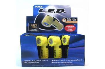 Dorcy 12PC - 3AAA 9 LED Angle Head Flashlight Display, Case of 12, 41-6235-CS