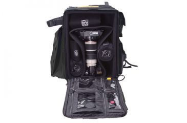 Porta Brace DSLR Backpack Camera Case - Open Full View
