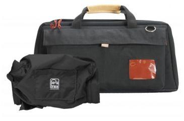 Porta Brace Mini-DV Camera Case w/M2 Quick Slick Rain Cover,Black/Red CS-DV4RQS-M2