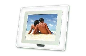 Portable USA 8'' Acrylic White Digital Picture Frame PU8C