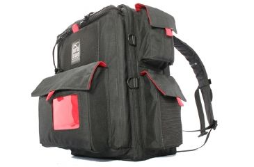PortaBrace BK-1NR Small Backpack Camera Case - Black/Red