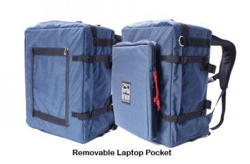 PortaBrace BK-3LCL Backpack Camera Case, Large, with Laptop Pocket Module - Blue