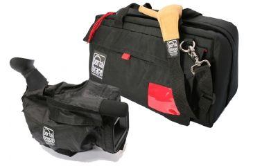 PortaBrace CS-DV4RQS-M4 Video Camera Case with Mini Rain Slicker - Black