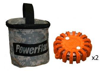 Powerflare PF-200 Softpack,  2 Safety Lights,Infrared LED,ACU Bag,2 Batteries, Orange Shell SP2ACU-I-O