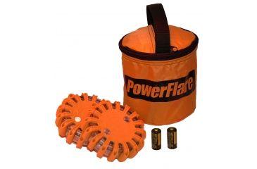 Powerflare PF-200 Softpack,  2 Safety Lights,Infrared LED,Orange Bag,2 Batteries, Orange Shell SP2O-I-O