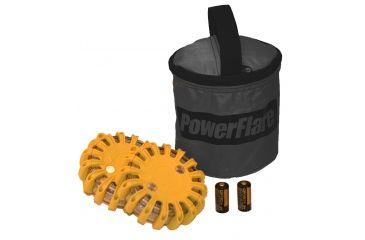 Powerflare PF-200 Softpack,  2 Safety Lights,Infrared LED,Black Bag,2 Batteries, Orange Shell SP2BK-I-O
