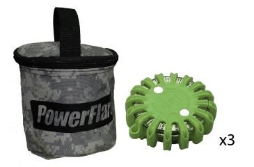 Powerflare PF-200 Softpack,  3 Safety Lights,Infrared LED,ACU Bag,3 Batteries, Olive Drab Shell SP3ACU-I-OD