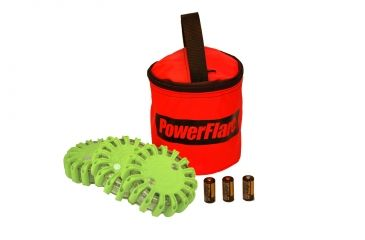 Powerflare PF-200 Softpack,  3 Safety Lights,Infrared LED,Red Bag,3 Batteries, Olive Drab Shell SP3R-I-OD