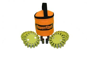 Powerflare PF-200 Softpack,  4 Safety Lights,Infrared LED,Orange Bag,6 Batteries, Yellow Shell SP6O-I-Y