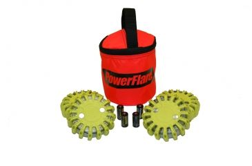 Powerflare PF-200 Softpack,  4 Safety Lights,Infrared LED,Red Bag,6 Batteries, Yellow Shell SP6R-I-Y