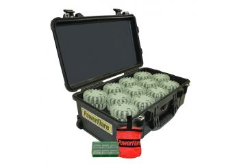 Powerflare PF-200 Incident Command Pack - 60 Lights,Amber LED,Black Case,60 Batteries, Olive Drab Shell PFPACK60BK-A-OD
