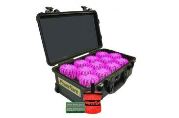 Powerflare PF-200 Incident Command Pack - 24 Lights,Infrared LED,Black Case, 24 Batteries, Hot Pink Shell PFPACK24BK-I-HP
