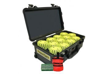 Powerflare PF-200 Incident Command Pack - 60 Lights,Amber LED,Black Case,60 Batteries, Yellow Shell PFPACK60BK-A-Y